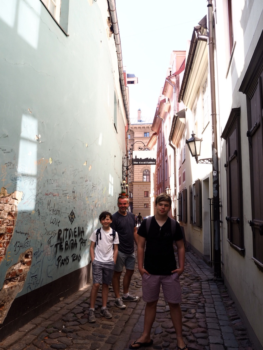 The narrowest street in Rīga
